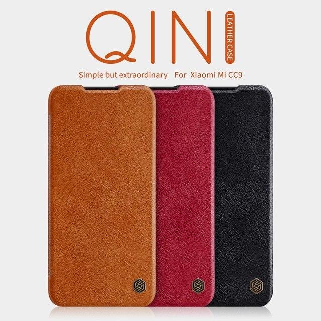 Luxury Vintage leather flip phone case para Xiaomi Mi 9 Lite