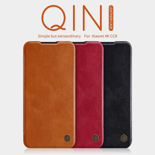 for Xiaomi Mi 9 Lite case flip cover, Nillkin PU leather case for Xiaomi Mi 9 Lite luxury vintage wallet folding book coque on