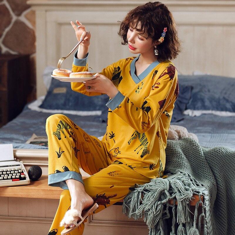 912 # Spring Pajamas WOMEN'S Suit Tracksuit 6535 Sunken Stripe M -Xxl