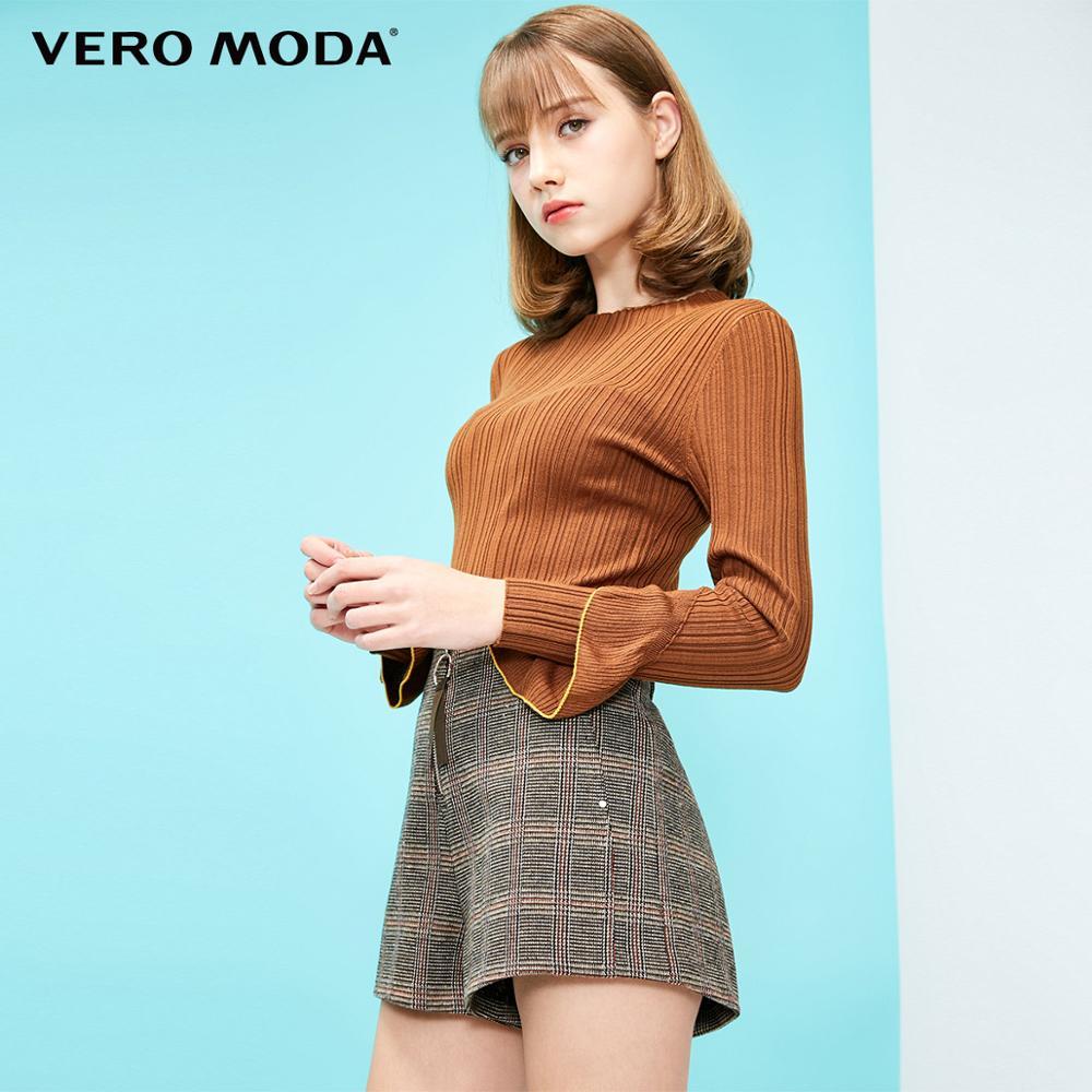 Vero Moda Women's Slim Fit Stretch Ribbed Sweater Knit Top | 319124525