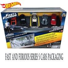 Горячие колеса Форсаж 8 сплава автомобиль Dodge Зарядное устройство Модель 5 упаковок автомобилей мальчиков игрушка подарок с FCW65
