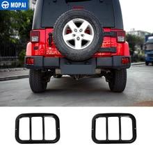 MOPAI cubierta de Metal para lámpara de coche, luz antiniebla trasera, accesorios de protección para Jeep Wrangler JK 2007 2018