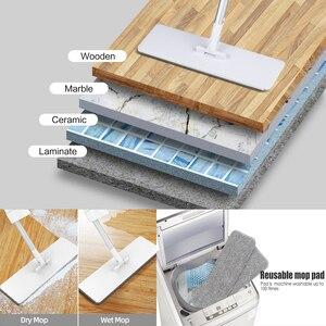 Image 5 - 簡単な自己絞り出し怠惰なフリップフラットモップ360スピン再利用可能な交換ウェットドライモップ木製の床とキッチン
