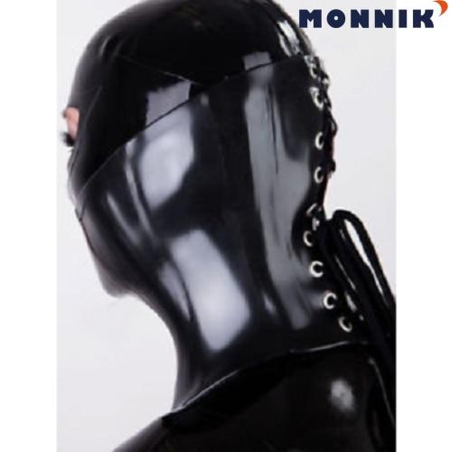 Heavy Latex Rubber Boned Corset Collar Black 1.0mm