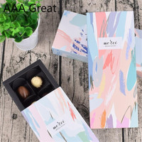 50Pcs/Lot Rectangular Drawer Box Gift Box Customized Card Paper Pull Out Box Christmas Chocolate Wedding Party Decorations Gifts