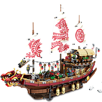 Ninjagoed Mobile Base New  Fate Reward Boat Set Destiny's Bounty Building Blocks Bricks Compatible Lepining 70618 76069 Toys 2