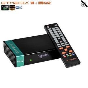 ТВ-приставка GTMEDIA V8X, приемник DVB S2 IPTV HEVC H.265, приемник для спутника, тюнер для Испании/Германии/Италии/Польши/Португалии