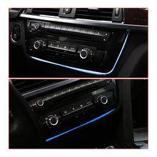 Oświetlenie otoczenia w samochodzie dla BMW F30 F32 auto konsola środkowa lampa oświetlenie wewnętrzne tapicerka przednia kratka nawiewu powietrza światła wlotowe tanie tanio Klimatyzacja montaż 0 1kg Vent lighting 10cm WI2475 2013-2019 Iso9001 30inch 2 colors Air-conditioning Installation Car ambient light