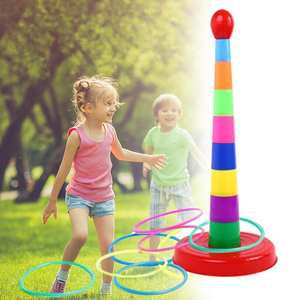 Ring-Toys Hoop Garden-Set Outdoor-Games Sport-Quoits Child Toss Plastic Kids for Colorful