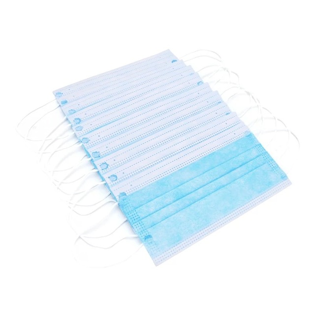 High Quality 100 PCS Non Woven Disposable Face Mask 3 Layers Earloop Anti-Dust Face Masks Disposable Mouth Mask 3