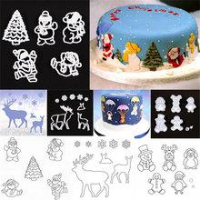 1 Набор форма для штамповки рождественских тортов лось снежинки
