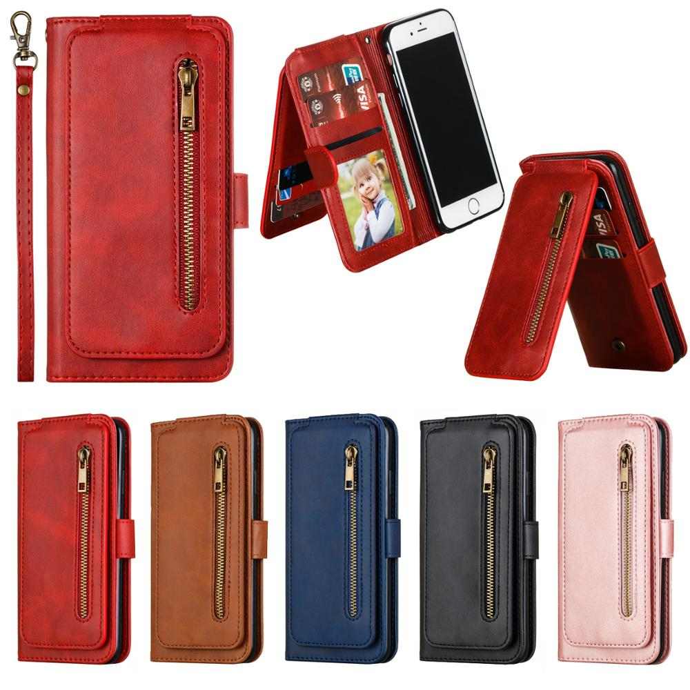 Nine Cards For Xiaomi 10 9T CC9E Redmi 7A Redmi8 8A Note 7 Note8 9S K20 Pro MAX Case Leather Flip Wallet Stand Cover Phone Cases