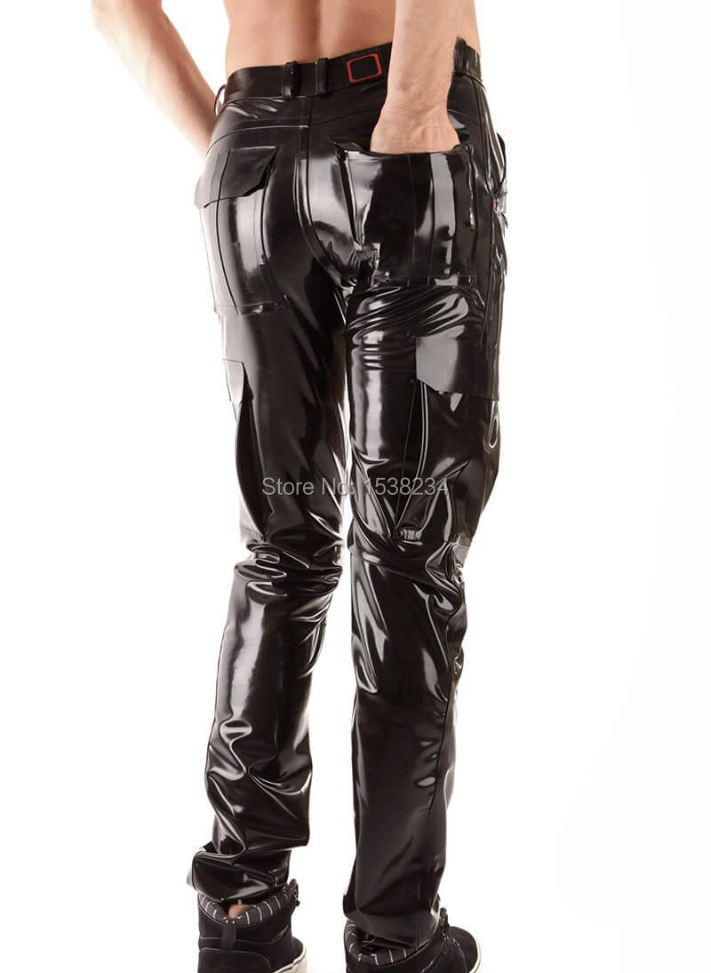 Latex homme armée JEANS avec poche en caoutchouc pantalon clients en caoutchouc Jeans personnalisé - 2