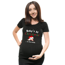 Baby's 1st  Christmas Maternity T Shirt Snowman Buttons Funny Pregnancy Tee Cute Christmas T Shirt Pregnant Maternity T-Shirts