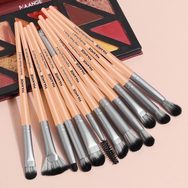 MAANGE Pro 3/5/12 PCS Makeup Brushes Set Eye Shadow Blending Eyeliner Eyelash Eyebrow Blush Make Up Brush Tools Kit Maquiagem 6