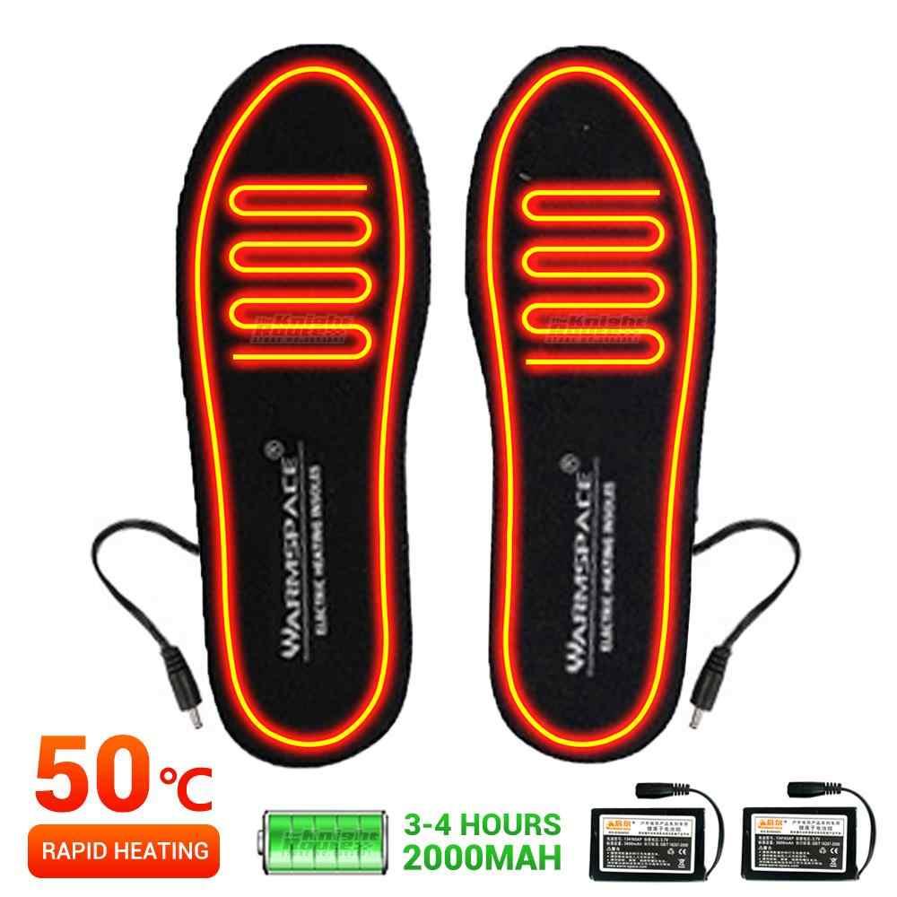 Lixada Plantillas Calefactables El/éctrica Port/átiles Lavables USB Calentador de Pies El/éctrico Plantillas T/érmicas Cortables
