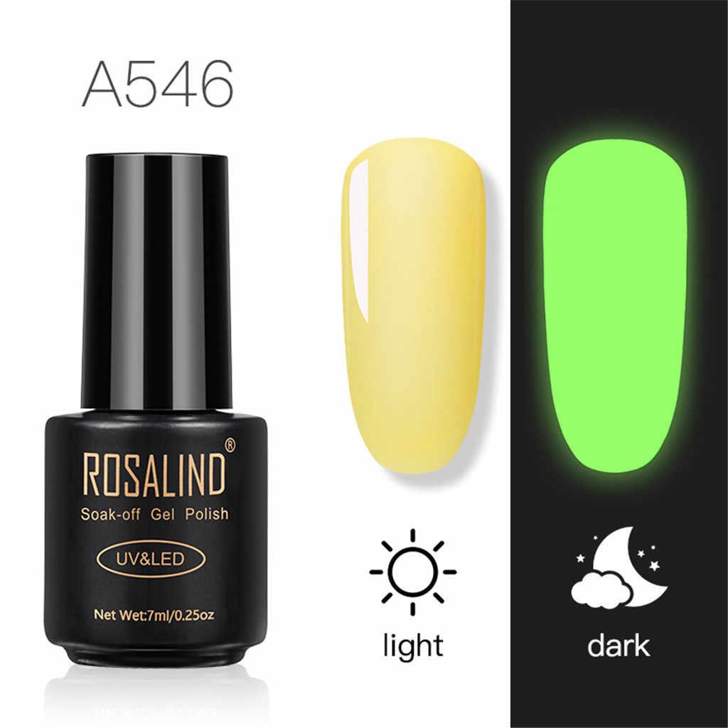 Kobiety Nail Art 7ml Off świecący gwóźdź żel jasny do paznokci artystyczny design lampa LED/UV profesjonalne piękno Sexy Ladies # V