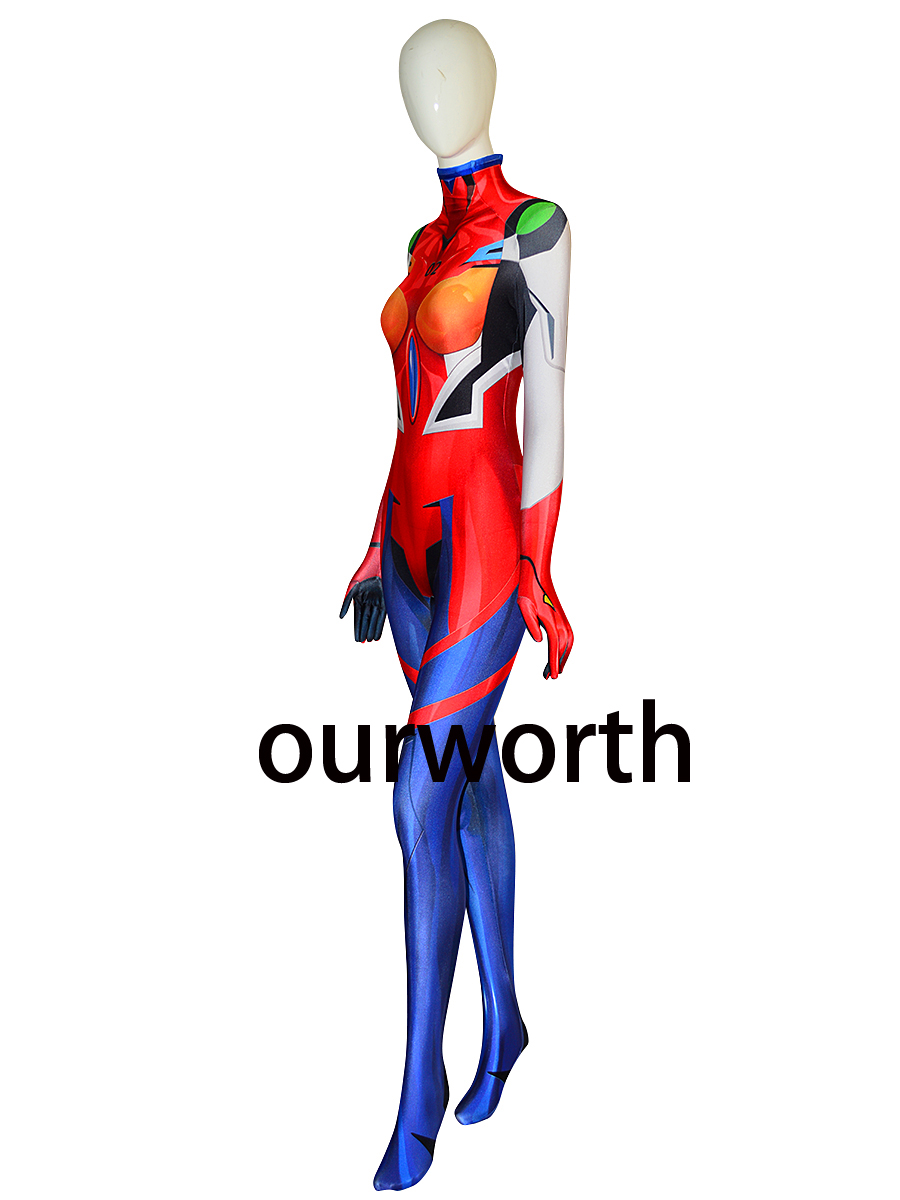 Asuka Suit Neon Genesis Evangelion Printing Cosplay Costume instock(China)