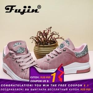 Image 2 - Fujin marca 2020 otoño zapatos de mujer Zapatillas suaves cómodos zapatos casuales moda señora Flats zapatos femeninos para mujeres PU