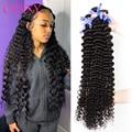 1/3/4 пряди 30 дюймов глубокая волна малазийские вплетаемые волосы пряди вьющиеся волосы пряди полный человеческие волосы волнистые Волосы Remy...