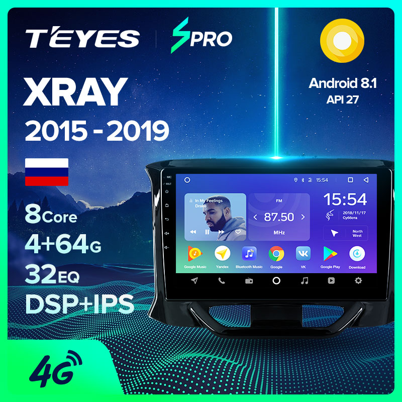 TEYES SPRO For LADA X ray Xray 2015 - 2019 Car Radio Multimedia Video Player Navigation GPS Android 8.1 No 2din 2 din dvd