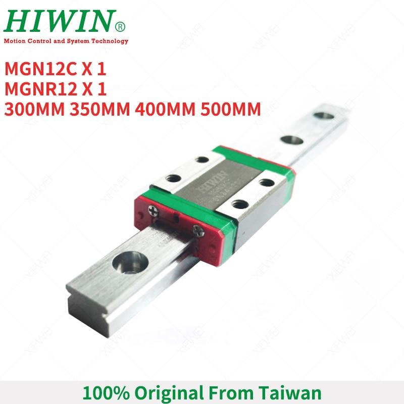 HIWIN MGN12C chariot à blocs coulissants avec 300mm 350mm 400mm 500mm MGN12 Rail de guidage linéaire pour kit de CNC Miniature de 12mm