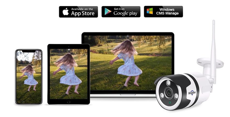 Hiseeu 2MP Wifi Waterproof Outdoor IP Security Camera 12