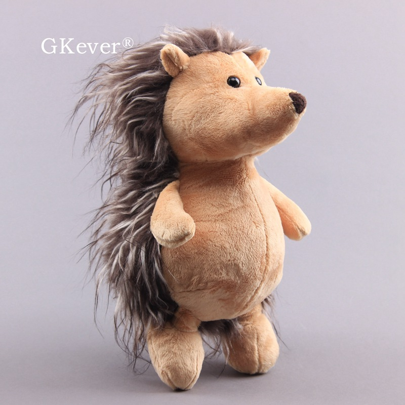 Hedgehog Brown Collectible Plush Soft Toy Fluffy Stuffed Doll 27 Cm Teddy Kids Gift