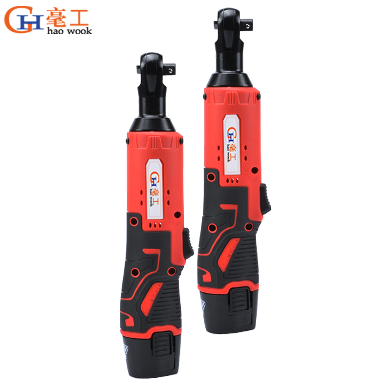 12V Electric Ratchet Wrench 45NM Torque 3/8 inch Cordless Wrench 1300mAh Rechargeable Battery Standable Power Tools