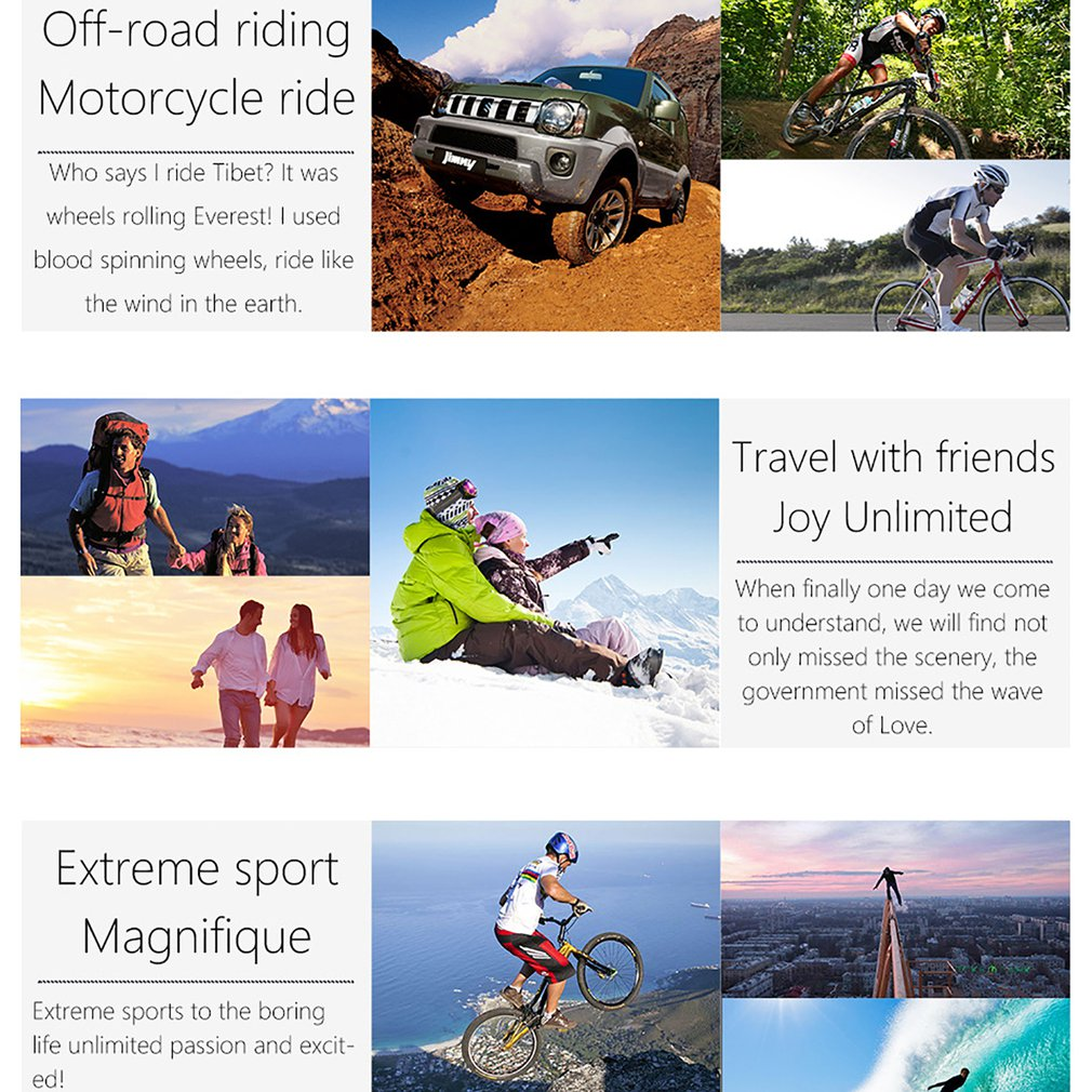 H6776df5529434f4d816887ae04337275S Pro Cam Sport Action Con Telecomando Camera 4k Videocamera Wifi Ultra Hd 16mp DVR Sports Outdoor Diving Bicycle Camcorder