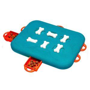 Cão quebra-cabeça comida dispensando brinquedo aumenta iq tratar pet mastigar e5bb interativo durável
