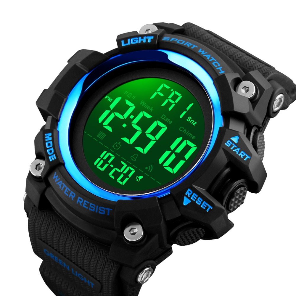 SKMEI Digital Watch For Men(Luxury Wrist Watch, Waterproof, LED, Digital, Countdown, Stopwatch)