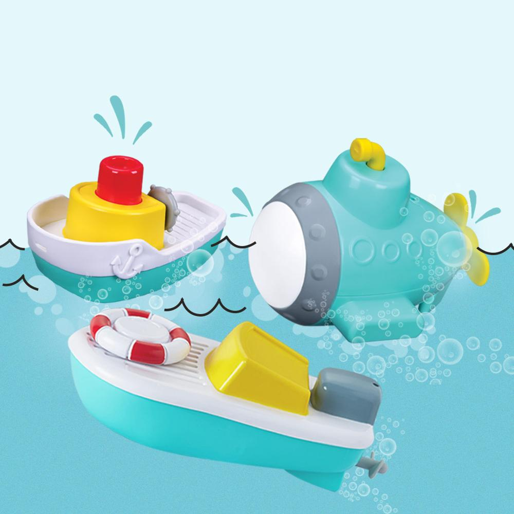 Electric Toy Boat Shower Bathing Swimming Summer Baby Toys Marine Birthday Gift 1-3 Year Old Children