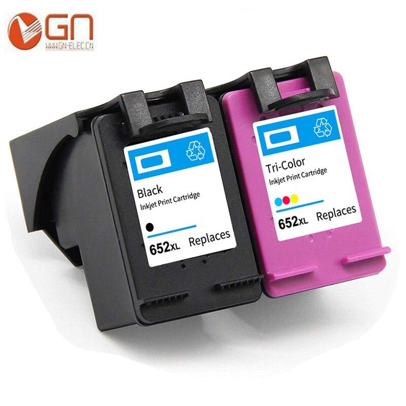 Сменный чернильный картридж GN 652XL, картридж для hp 652 xl Deskjet 1115 2135 3835 2675 2676 4675