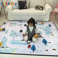 Tapis brillant bébé 1.5CM (0.6in) épaisseur enfants tapis de jeu tapis de velours 150*200CM (60 * 78.7in) tapis rampant bébé antidérapant