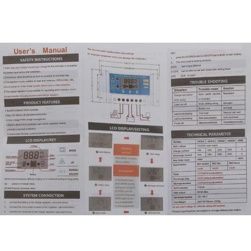 24v 12v regulador solar coletor da 04