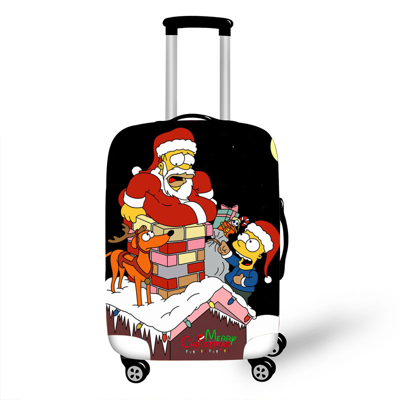 Luggage Protective Cover Case For Elastic 18-32 Inch Suitcase Protective Cover Cases Covers Xl Travel Accessories The Simpsons 1
