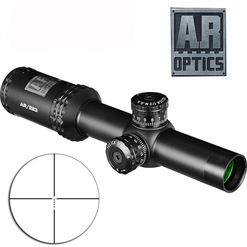 1-4x24 AR Optics Drop Zone-223 Reticle Tactical Riflescope With Target Turrets Hunting Scopes For Sniper Rifle bushnell