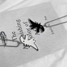 Origin-collar con colgante grueso de dinosaurio de titanio para mujer, gargantilla de diseño único de animales, joyería, verano, hip hop, blanco y negro