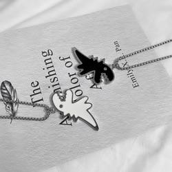 Origin Summer Hiphop Titanium Dinosaur Black White Chunky Pendant Necklace for Women Unique Design Animal Necklace Jewelry