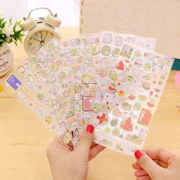 1Pc Kawaii Scrapbooking Corner Creature Planner Stickers Label Diary Decoration Stationary School Supplies Gifts For Kids