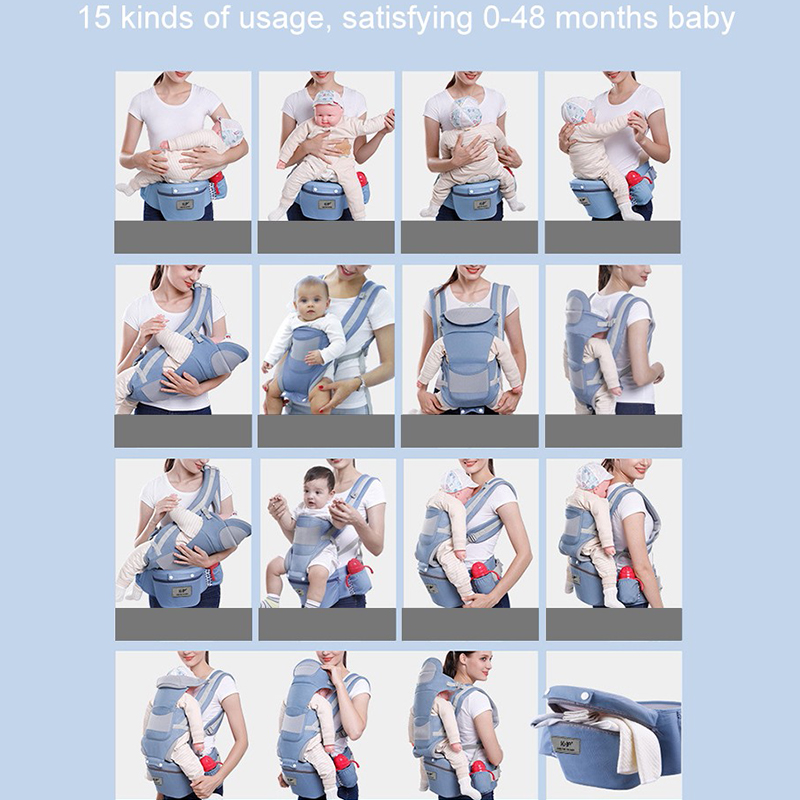 Hot DealsNew 0-48 Month Ergonomic Baby Carrier Infant Baby Hipseat Carrier 3 In 1 Front Facing Ergonomic Kangaroo Baby Wrap Sling