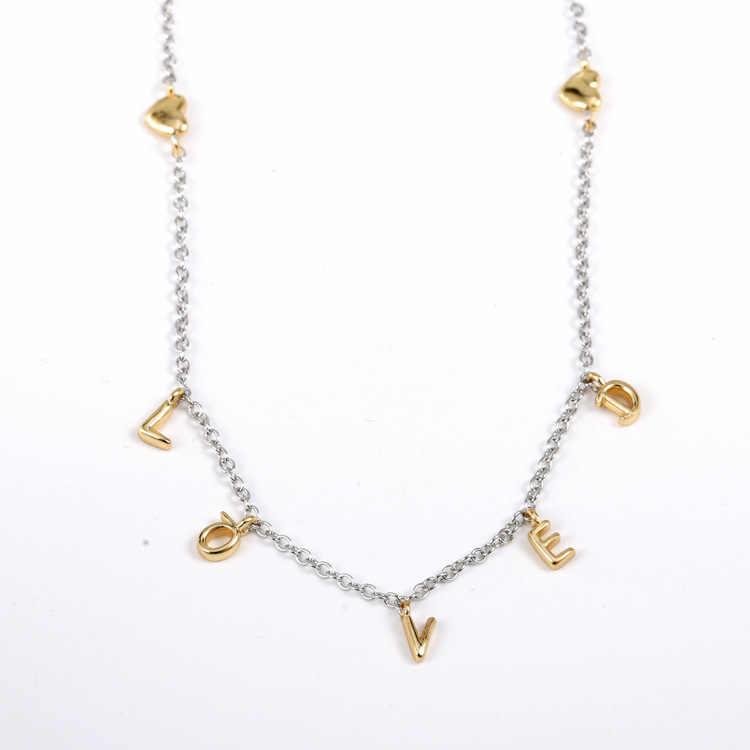 Originele 925 Sterling Zilveren Ketting Shine Hield Script Collier Ketting Voor Vrouwen Huwelijkscadeau Europa Mode-sieraden