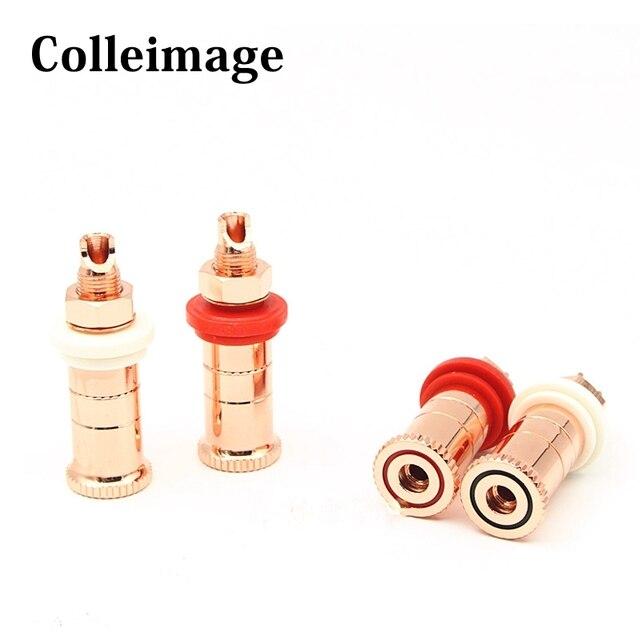 Alto falante de áudio de alta fidelidade tomada de cobre alta fidelidade áudio alto falante conector amplificador terminal ligação pós banana plug soquete conector