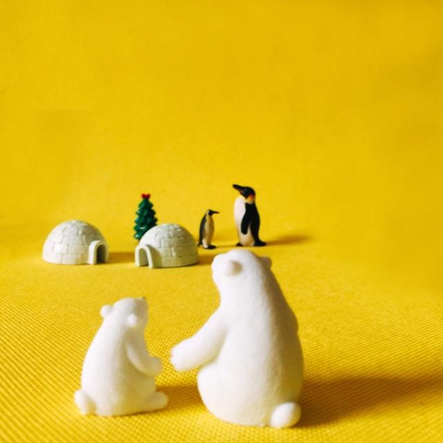 polar bear penguin/fairy garden/terrarium decor/ vintage home decor/Christmas birthday gift/miniatures animals/figurine/diy 3