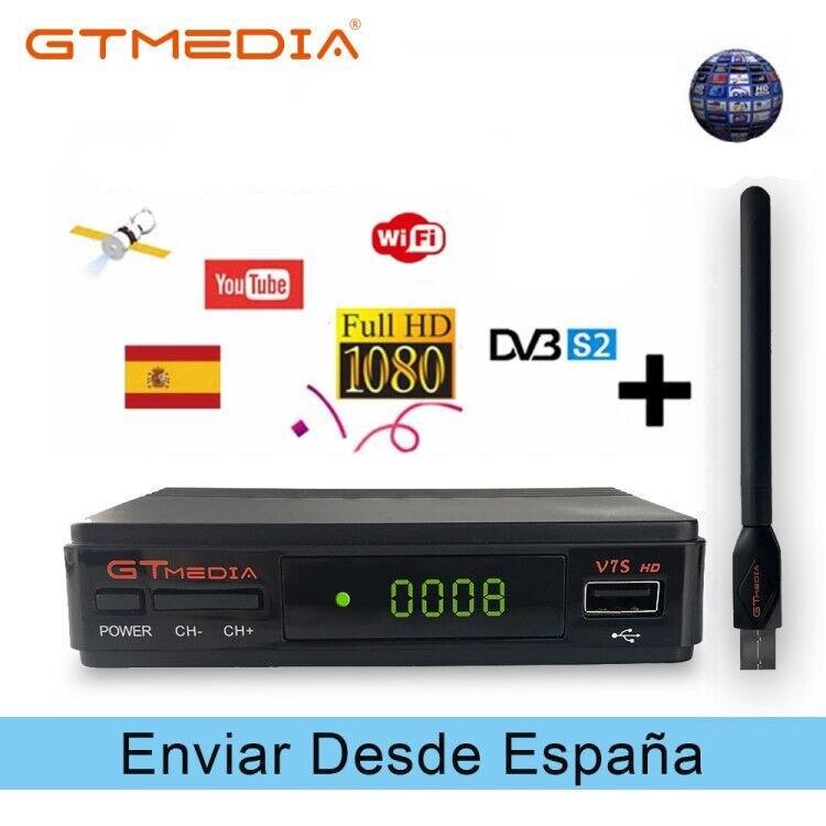 Hot sale Satellite TV Receiver Gtmedia V7S HD Receptor Spain DVB-S2 Satellite Decoder Freesat V7 HD