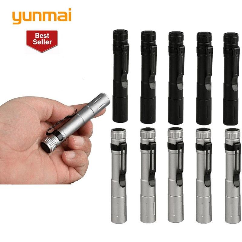New 6pcs Portable Mini Penlight Xpe Led Flashlight Zoomable Torch Pocket Light Waterproof Lantern Night Fishing Light Wholesale