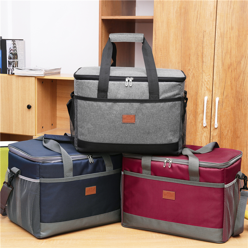 Image 5 - Leakproof Red Blue 33L Insulated Thermal Cooler Lunch bag for outdoor Picnic bag Car using Bolsa termica loncheras para mujerCooler Bags   -