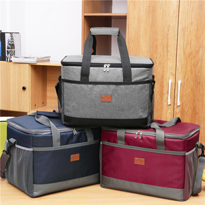 Image 5 - Leakproof Red Blue 33L Insulated Thermal Cooler Lunch bag for outdoor Picnic bag Car using Bolsa termica loncheras para mujer