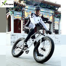 New Montain Bike Carbon Steel Frame 4.0 inch Width Tire 27 Speed Dual Disc Brake Outdoor Sports Beac